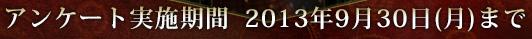 アンケート実施期間  2013年9月30日(月)まで